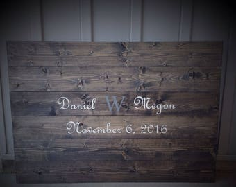 wood guest book, wedding guest book, guest book, wedding guestbook, rustic guest book, custom guest book, guestbook names and date