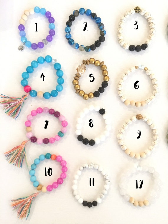 OVER 20 Essential oil bracelet designs to choose from diffuser jewelry semi precious stone beaded bracelets doterra youngliving oils