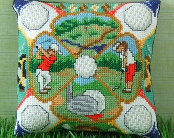 A Round of Golf Mini Cushion Cross Stitch Kit