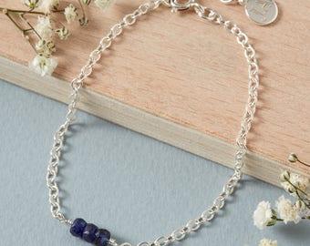 Sapphire Bracelet, September Birthstone Bracelet, September Birthday, September jewellery, September bracelet, September birthday gifts