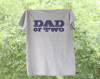 Dad of Number of Children with names on back // Father's Day - TW