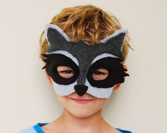 Raccoon Mask for Dress-up, Pretend, Halloween, or just a lifestyle.