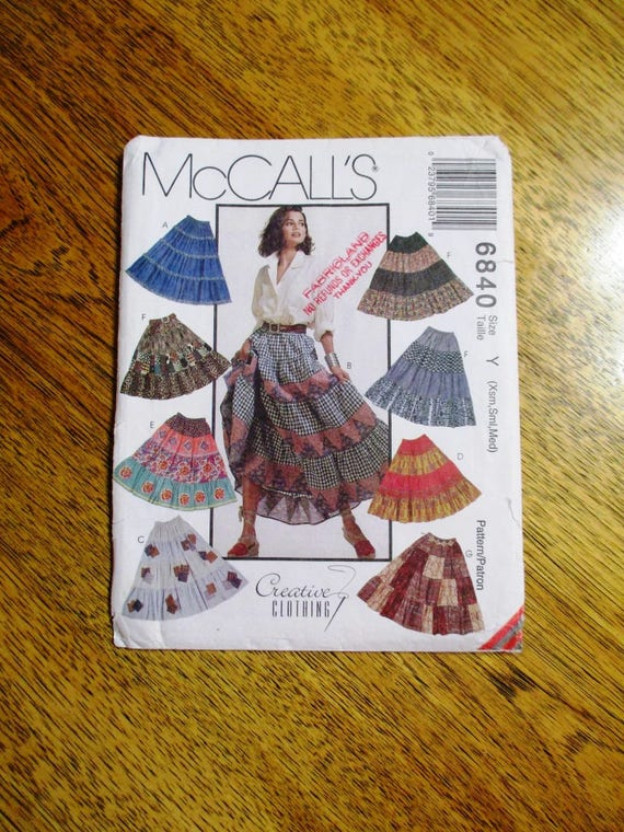 DIY Belly Dance Skirt / Tiered Patchwork Skirt / BOHO Gypsy Skirt ...