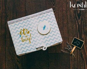 Memory Box, Baby Keepsake Box, Baby Shower Box, New Baby Box, Personalised Memory Box, Luxury Gift Box, Christening Gift, Customised Box
