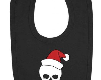 Christmas Santa Skull Baby Bib