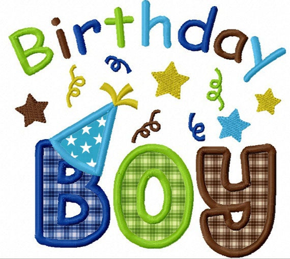 Instant download birthday boy applique machine embroidery for Embroidery office design version 9