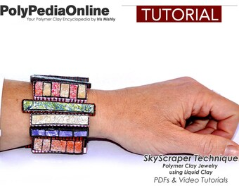 Polymer Clay Tutorial, Polymer Clay Jewelry, Polymer Clay Beads, Necklace tutorial, Bracelet Tutorial, Brooch, PDF Tutorial, Handmade Bead