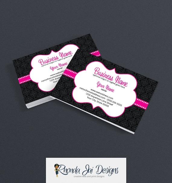 Damask business card etsy business card designs stylish like this item reheart Image collections