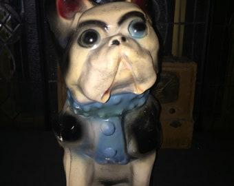 Vintage Chalkware Bulldog Bank Carnival Prize 1930's