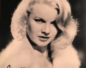 CARROLL BAKER Hand-Signed Carpetbaggers Publicity Photograph with COA