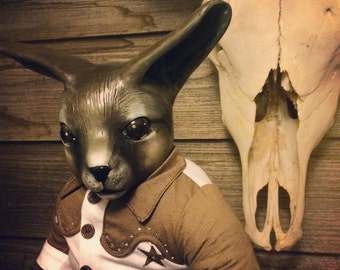 OOAK fine art doll: Fennec Fox Gunslinger