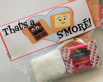That's a S'MORE! S'Mores Class Valentine Printable