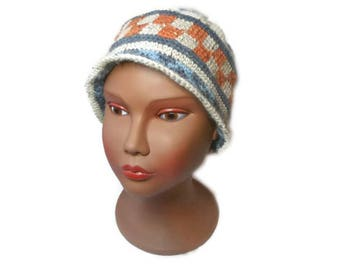 Cloche hat, hat crochet Hat winter Hat ethnic wayuu original hat, hat wool hat, ethnic hat, jacquart