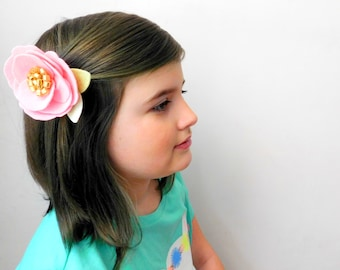 Big Beautiful Felt Flower Hair Clippie