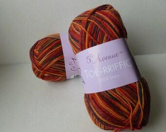 Yarn Sale  - Bonefire Toe-rriffic by 5th Avenue