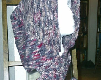 Hooded Scarf Knitting Pattern - (PDF download)