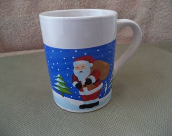 Christmas mug , Santa Claus  milk mug, Hot cocoa mug , Tea cup , Vintage Christmas coffee mug ,Santa Cocoa mug , Holiday cup, Christmas cup