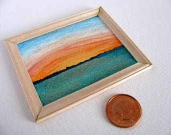 Miniature Unfinished Birch Frame / 1:12 Scale Dollhouse Decor / Handmade Miniature Unfinished Birch / Made to Order