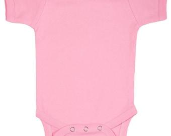 Pink Plain Baby Bodysuit One Piece
