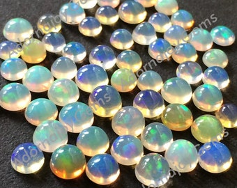 Opal 4mm Gemstone Cabochon Round FOR TWO