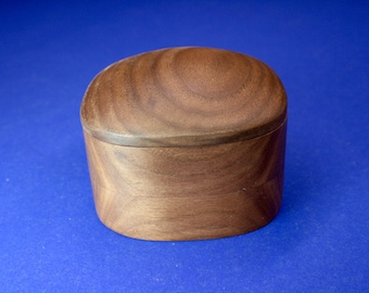 Walnut Super Ellipsoid Shaped Box #2