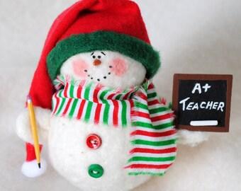 Teacher Snowman Ornament