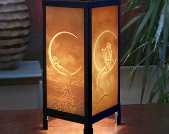 Mermaid  Porcelain Lithophane Luminaire Accent Lamp