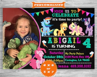 My Little Pony Invitation, My Little Pony Birthday, My Little Pony Invite, My Little Pony Party, My Little Pony Printable