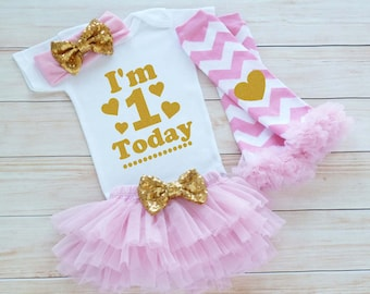 Baby Girl Birthday Announcemnet, First Birthday Girl Shirt, 1st Birthday Girl, Cake Smash Shirt, Princess Birthday Outfit, Birthday Gift