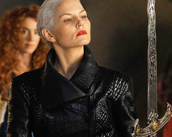 OUAT Dark Emma Swan Black Jacket, Custom-made