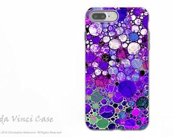 Purple Bubble Abstract - Artistic iPhone 7 PLUS - 8 PLUS Tough Case - Dual Layer Protection - Grape Bubbles