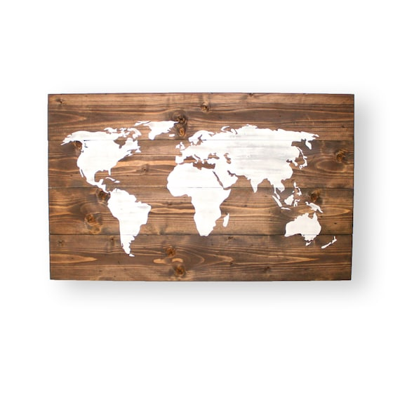 World map push pin world map wood travel map wall decor like this item gumiabroncs Images