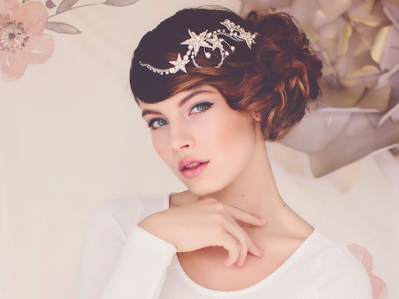 Celestial theme Wedding Star Hair Jewelry Headpiece Weddings