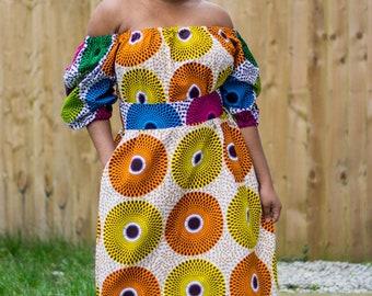 Ankara dress, african print dress, off shoulder dress, off-the-shoulder dress, african dress, dress, maxi dress