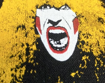 twisted sister , vintage patch 80s !!    I Wanna Rock !  Dee Snider !! seamless pattern.