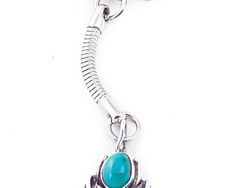 Navajo Silver Turquoise Key Chain