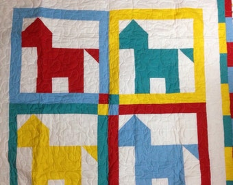 Playful Horse Baby Quilt