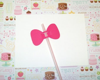 12 Bow Straw Toppers/ Party Suppies/ Birthday Party/ Party Decorating