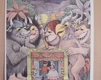 Maurice Sendak Poster Where The Wild Things Are Double Bill at Glyndebourne 1980s