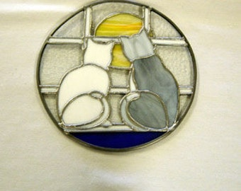 Stained Glass Cats Suncatcher