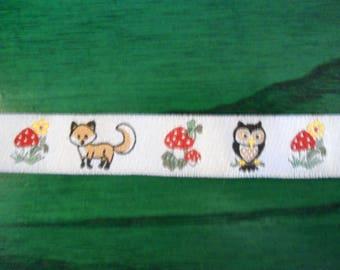 Rustic pattern, 16 mm wide ribbon.