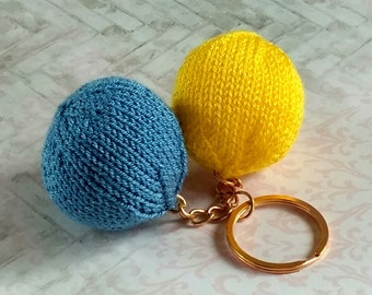 Original knitted keychain, knitted soft keychain, keychain for luck and comfort, gift for friend, ukrainain gift