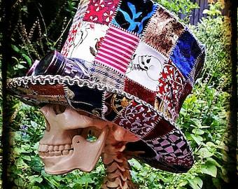 Steampunk mad hatter top hat