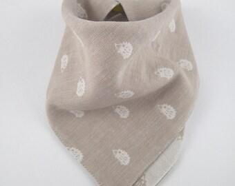 Hedgehogs bib, bandana baby bib, scarf bib, baby bib, dribble bib, toddler bib, gift for boy