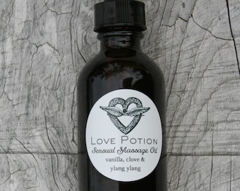 Sensual Massage Oil // With Ylang Ylang // Natural Aphrodisiac // Clove and Vanilla.