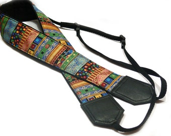 Aztec Camera Strap. Ethnic Camera strap. DSLR / SLR Camera Strap. Camera accessories by InTePro