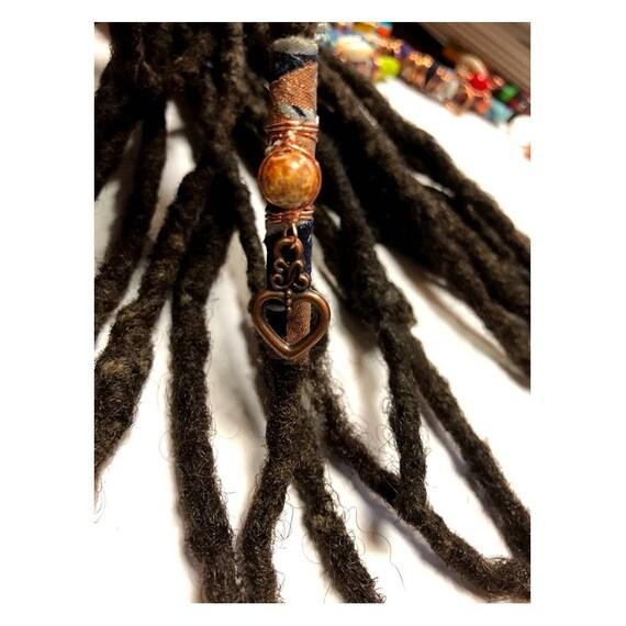 Fabric Bead Loc Jewelry Dreadlock #5