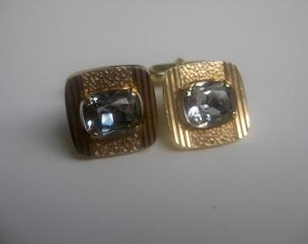 elegant, anthracite-coloured glass cufflinks