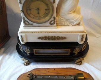 France alabaster clock