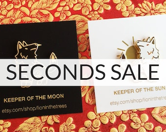 SECONDS SALE Keeper Wolves Enamel Pin